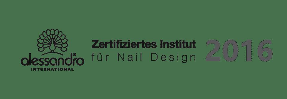 Zertifiziertes Institut Zertifikat 2016 von alessandro international