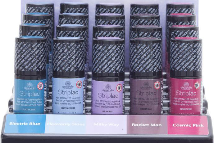 allesandro International Nagellack Display Cosmic Chic Striplac